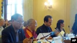 国会及行政部门中国问题委员会开会讨论西藏