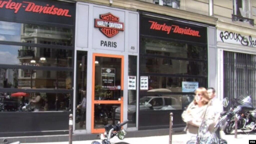 Một nhà máy bán lẻ của Harley-Davidson.ở Paris, Pháp
