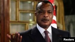 Le président du Congo Denis Sassou Nguesso, le 22 janvier 2015. (Reuters/Anis Mili)