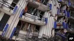 지진이 강타한 멕시코 오악사카 주의 한 건물.