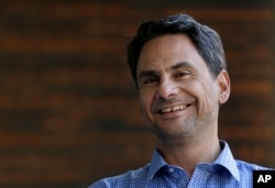 Google Analytics engineering director Dimitris Nakos is interviewed in Mountain View, Caif. on Nov. 12, 2015.