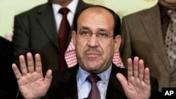 사퇴 의사를 밝힌 이라크의 누리 알-말리키 총리 (자료사진)
