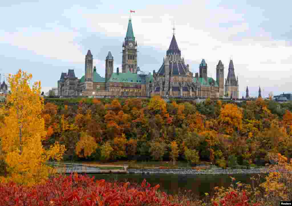 Parliament Hill  is seen the morning after the federal election in Ottawa, Ontario, Canada.