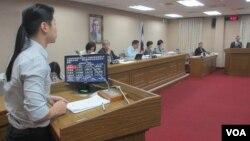 台灣立法院外交及國防委員會10月5號質詢的情形(張永泰拍攝)