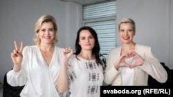 Вероніка Цепкало, Світлана Тихановська та Марія Колесникова – лідерки білоруської опозиції, липень 2020 року
