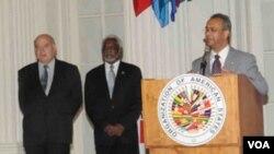 La OEA fue una de las organizaciones involucradas en recoger fondos para las víctimas de terremoto de Haití.