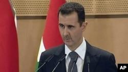 Shugaba Bashar al-Assad yana magana ta telebijin na kasar Sham yau litinin 20 Yuni, 2011