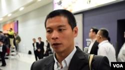 香港特首選舉高教界選委呂秉權 (VOA湯惠芸攝)