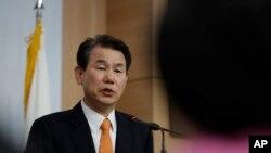 南韓談判代表鄭恩甫(Jeong Eun-bo)
