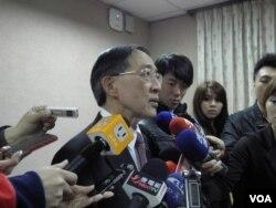 台湾外长林永乐3月25日在立法院(美国之音申华拍摄)