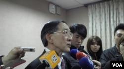 台灣外長林永樂3月25日在立法院(美國之音申華拍攝)