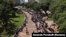 Feira de emprego em São Paulo, Brasil. 26 de Março 2019