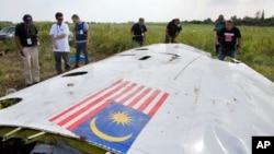 Sitio donde cayó el avión de Malaysian Airlines en Ucrania, el cual busca asegurarse.