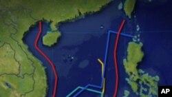 بحر جنوبی چین کا نقشہ