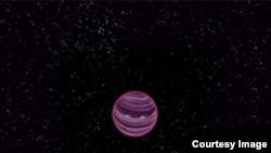 La planète solitaire PSO J318.5 -22, imaginée par un artiste