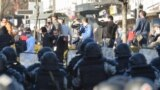 Riots in Skopje against the case Monstrum