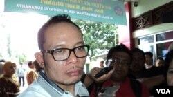 Menteri Tenaga Kerja Hanif Dhakiri di Solo, Jawa Tengah (26/3). (VOA/Yudha Satriawan)