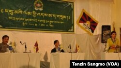 Panel speakers on Tibetan Women Association's 28th anniversary