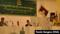 Panel speakers on Tibetan Women Association's 28th anniversary