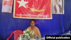 ဘူသီးေတာင္ၿမိဳ႕နယ္ NLD ပါတီ ဥကၠ႒ ဦးရဲသိန္း (သတင္းဓာတ္ပံု - Ray Thein Facebook)