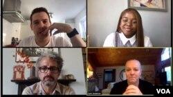 Thượng đỉnh Giáo dục Tortoise diễn ra qua mạng hồi cuối tháng Sáu với sự tham gia của ngôi sao YouTube Vee Kativhu (ảnh hàng đầu phía bên phải) và chuyên gia giáo dục từ Hoa Kỳ Cami Anderson (hàng hai phía bên phải)