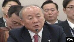 韓國統一部長柳佑益(視頻截圖)