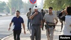 Hiện trường một vụ tấn công của phiến quân Nhà nước Hồi giáo ở thành phố Kirkuk, Iraq, 21/10/2016.