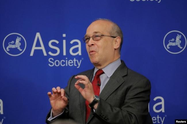 美國前負責亞太事務的助理國務卿拉塞爾在紐約亞洲協會舉辦的關於朝鮮半島危機的討論會上發言(2017年6月19日)