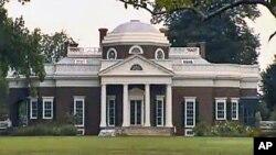Căn nhà trước đây của Tổng thống Thomas Jefferson, vị Tổng thống thứ 3 của Hoa Kỳ, ở Monticello
