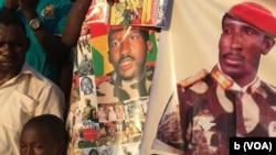 Des posters à l'effigie de Thomas Sankara. (VOA)