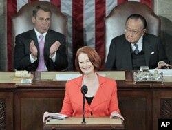 Le Premier ministre Julia Gillard s'adresse au Congrès des EE.UU en mars 2011