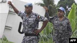 Fildişi Sahili'nde görev yapan barışgücü askerleri
