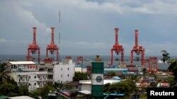 Cảng Tự trị Sihanoukville ở Đặc khu Kinh tế Sihanoukville thuộc sở hữu của Trung Quốc, Campuchia, 28 tháng 9, 2017.