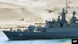 ایرانی بحریہ کے جہاز مصر کی نہر سوئز سے گرز رہے ہیں