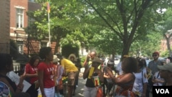 Some of the protesters outside the Zimbabwe Embassy in Washington DC.