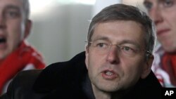 President of the football club AS Monaco, Dmitry Rybolovlev of Russia, attends the French League two soccer match Monaco vs Bastia, Feb. 13, 2012 in Monaco stadium.