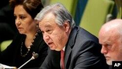 Guterres ve la necesidad de que se resuelva el conflicto a través de una solución política.