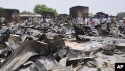지난해 5월 나이지리아 감바루 시의 주택가가 이슬람 과격단체 보코 하람의 공격으로 폐허로 변했다. (자료사진)