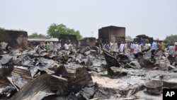 Le site d'une attaque de Boko Haram à Gambaru, au Nigéria (AP)