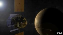 Pesawat 'Messenger' menyelesaikan misi satu tahun di orbit planet Merkurius pekan lalu (foto: ilustrasi).