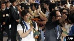Japonezët presin me bujë ekipin kampion të futbollit për femra