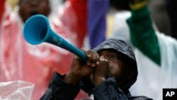 Vuvuzela, a familiar noise maker at soccer match, is used in Uganda to keep elephants away from people. (AP File photo)
