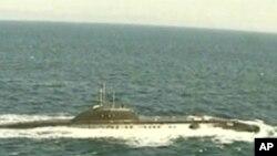 훈련중인 러시아 해군 잠수함 (자료사진)