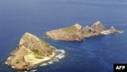 Dãy đảo có tranh chấp mà Nhật Bản gọi là Senkaku, Trung Quốc gọi là Điếu Ngư