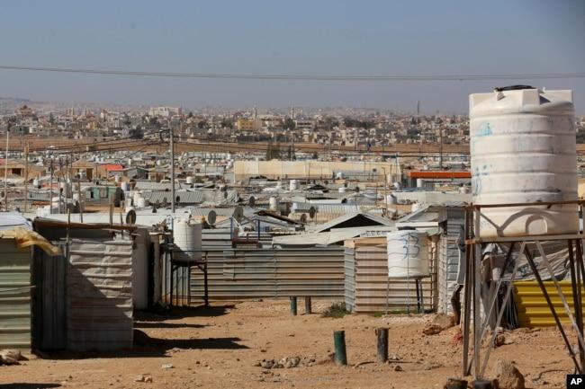 General view from Zaatari, the largest Syrian refugee camp in Mafraq, Jordan, on Sunday, Feb. 3, 2019. (AP)