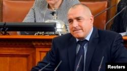 20일 불가리아 의회에서 사임 의사를 밝히는 보이코 보리소프 총리.