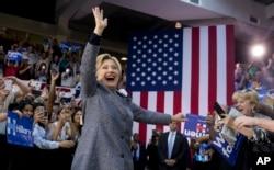 Ứng cử viên của đảng Dân chủ Hillary Clinton trong cuộc vận động ở Charlotte, North Carolina, ngày 14/3/2016.