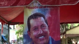 A Chavez electoral poster in Caracas