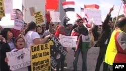 Los Angeles'taki Mısırlılar da kendi ülkelerindeki protesto eylemlerine destek veriyor