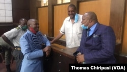 Hopewell Chin'ono With Nelson Chamisa